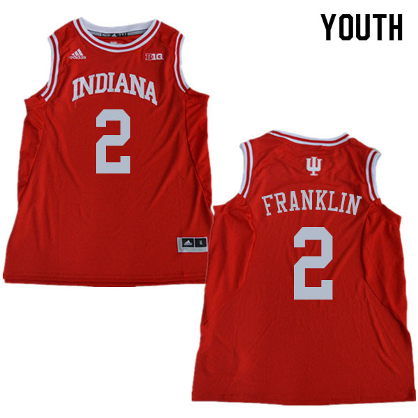 Youth #2 Armaan Franklin Indiana Hoosiers College Basketball Jerseys Sale-Red