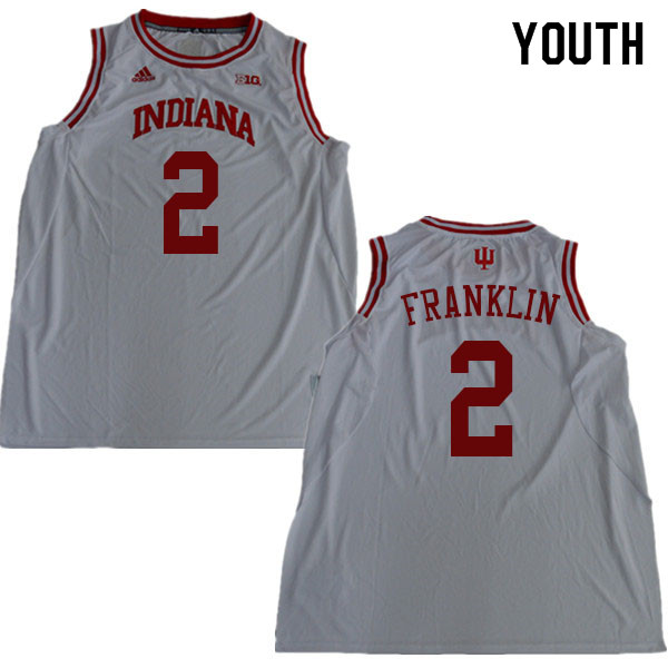 Youth #2 Armaan Franklin Indiana Hoosiers College Basketball Jerseys Sale-White