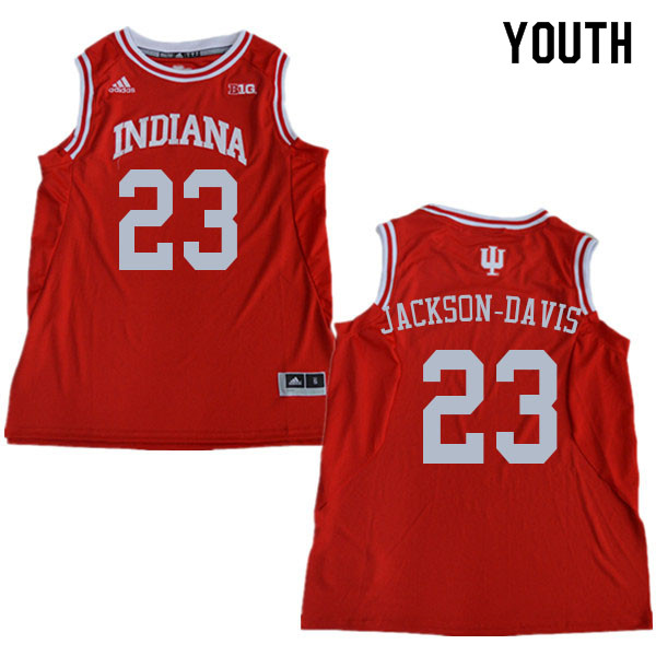 Youth #23 Trayce Jackson-Davis Indiana Hoosiers College Basketball Jerseys Sale-Red