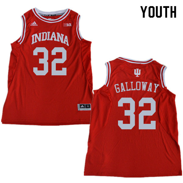 Youth #32 Trey Galloway Indiana Hoosiers College Basketball Jerseys Sale-Red